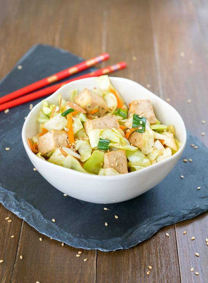 ... , fresh salad with perfectly-baked tofu and fragrant sesame dressing