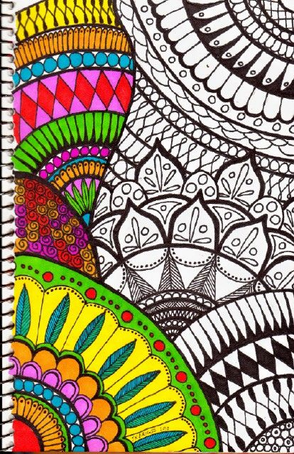 Wow!  Great colored Zentangle.