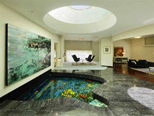 Indoor fish pond water gardening ponds fountains for Indoor fish pond