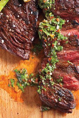 Skirt Steak with Chimichurri Sauce | Foods & Drinks | Pinterest