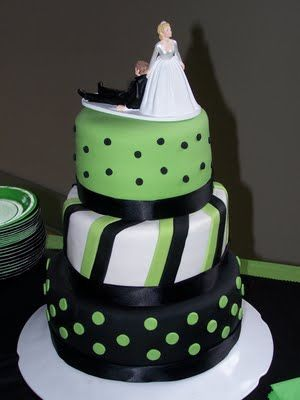 Lime Green Wedding Cake - Wedding Cake