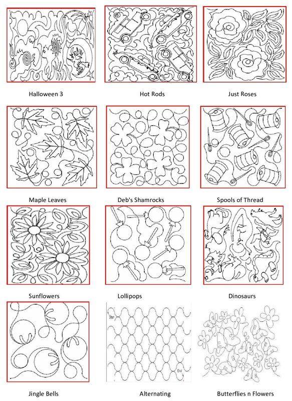 Longarm Quilting Pattern Book Sew Cute Pinterest