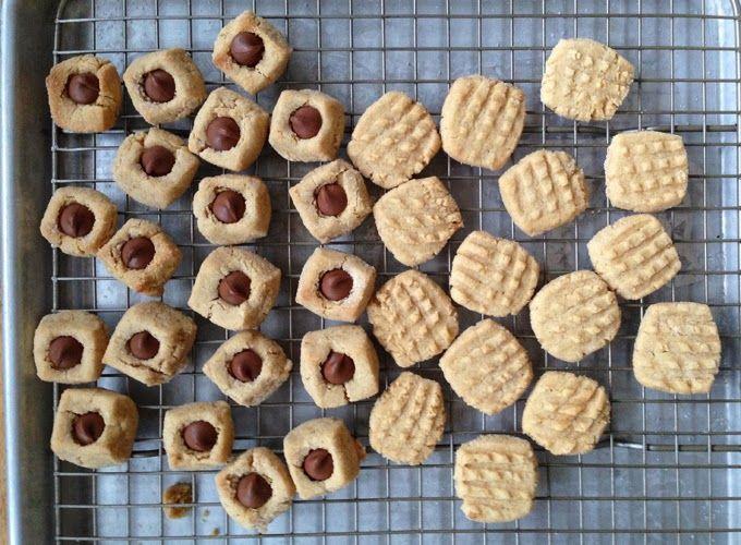 Gluten Free Bite Size Peanut Butter & Peanut Blossom Cookies | food ...