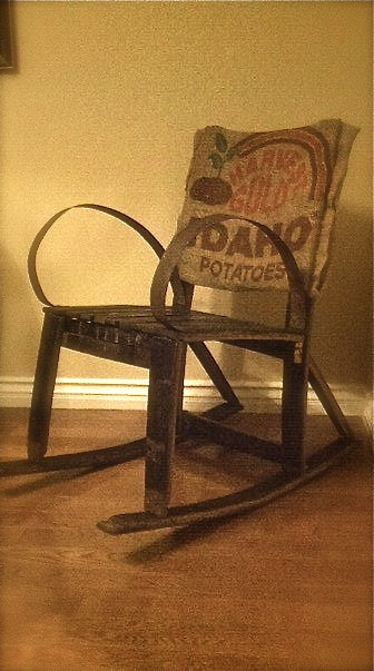 Nathan evans brilliant up cycling from wine barrel to rocking chair