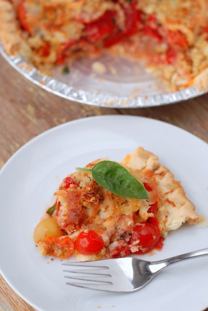 Fresh savory tomato pie. When tomatoes are in season, this recipe is ...