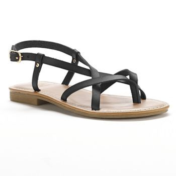 Elegant  Sandals  Daniel  Daniel Black Rocking Womens Flat Sandal
