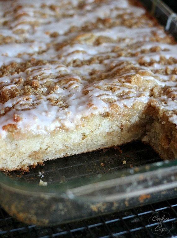 ... Bread Crumb Cake - An excellent banana coffee cake with a crumb