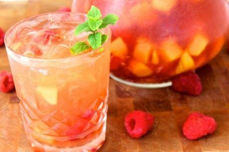Mango Raspberry Rosé Sangria {cookingforbimbos.com}