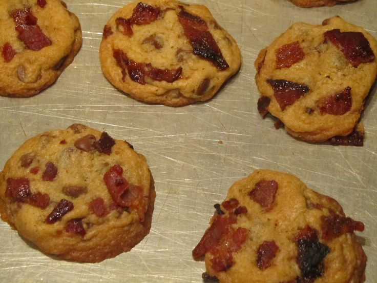 Candied Bacon Chocolate Chip Cookies | Cooking | Pinterest