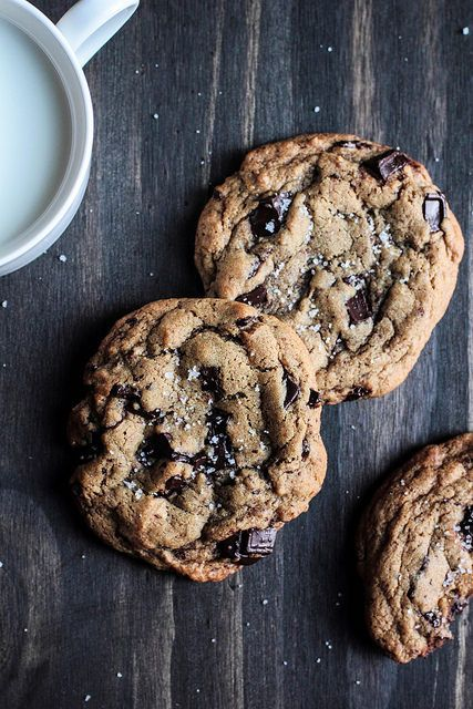 Salted Chocolate Chunk Cookies | Favorite Cookies | Pinterest