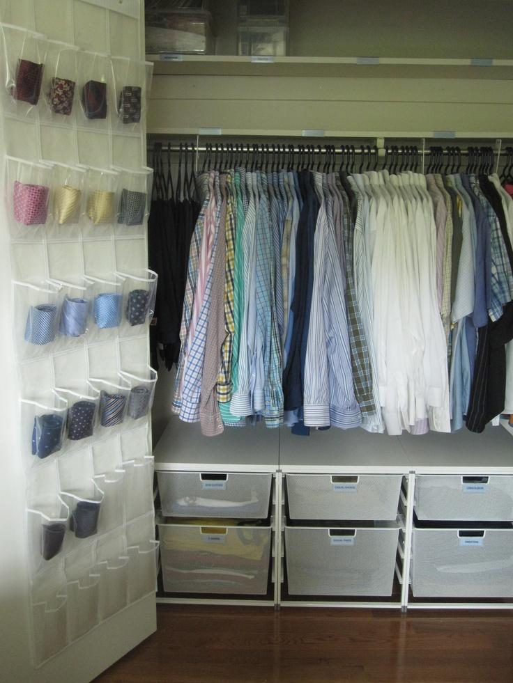 Super Duper Organized Men 39 S Closet Organization Pinterest