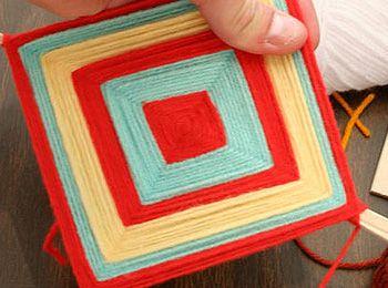 Cometas de lana para decorar la casa manualidades ni os - Decorar la casa ...