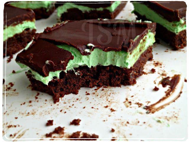 Secret Recipe Club: Grasshopper Bars. Brownies, mint buttercream ...