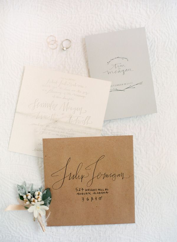 calligraphy invites... photo by Jose Villa