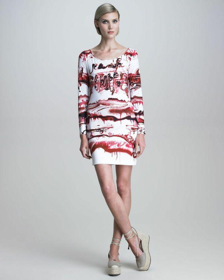 JEAN-PAUL GAULTIER Soleil Collection GRAFFITI PRINT Sheath Dress-Size ...