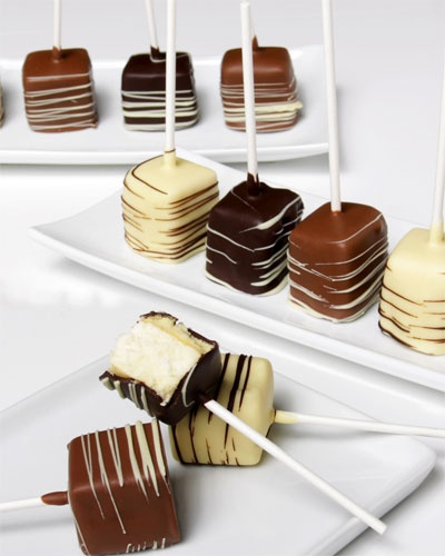 Chocolate-covered cheesecake pop | It's a Piece of Cake | Pinterest