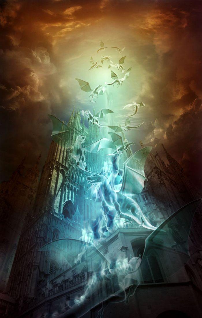 Portal para as almas mortas na chuva de dragões