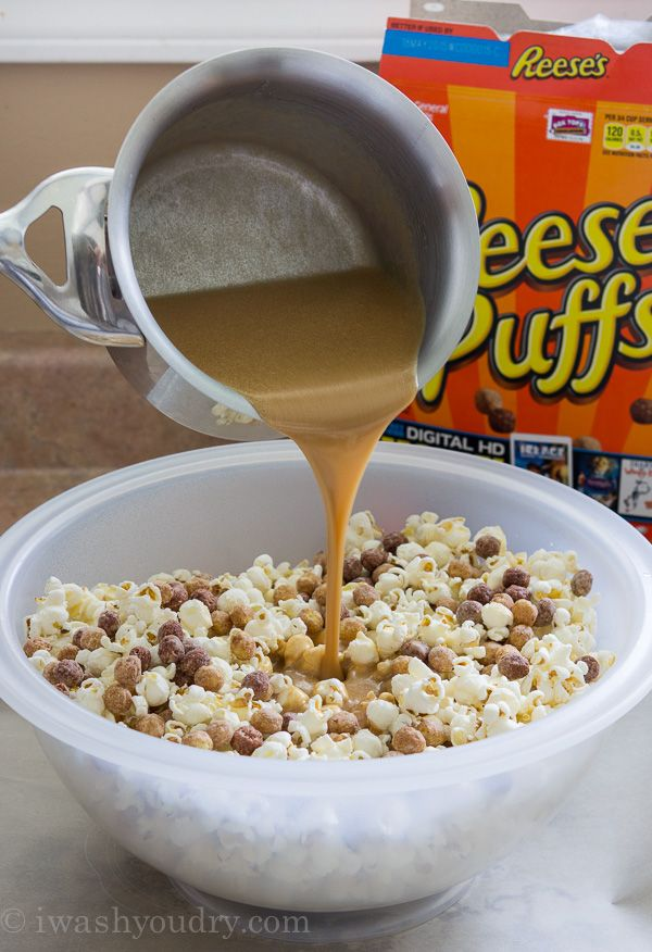 Peanut Butter and Chocolate Popcorn Crunch Mix | Recipe