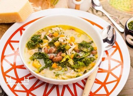 Minestrone with garlic-herb dressing | Soups/Stews | Pinterest