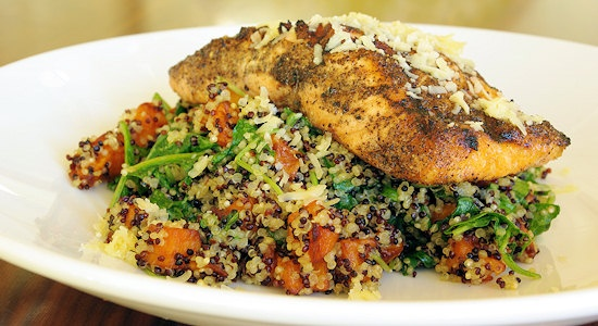 Salmon Quinoa Salad | Things to Make and then Eat | Pinterest
