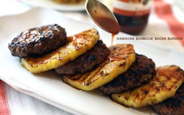Hawaiian Barbecue Bacon Burgers | The Paleo/Primal Plate | Pinterest
