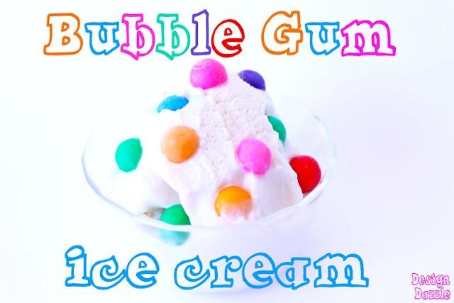 Bubble Gum ice cream | fun food ideas | Pinterest