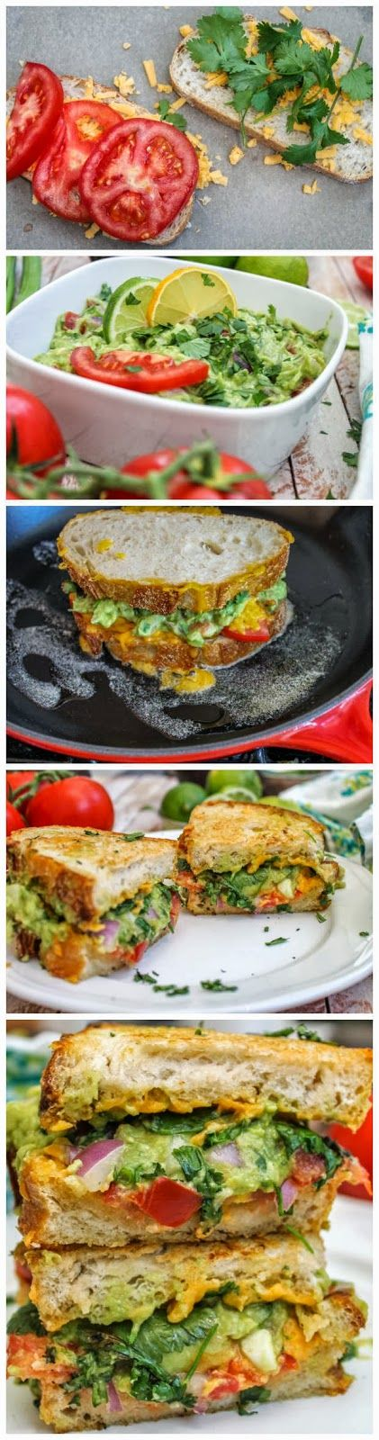 Guacamole Grilled Cheese Sandwich...something different to try at home