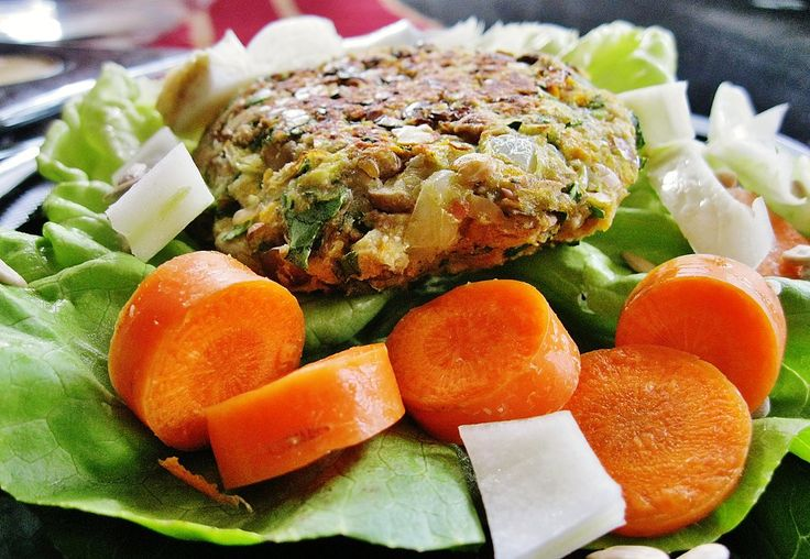 ... -for-you stuff. This recipe makes six burgers. I had leftover lentils