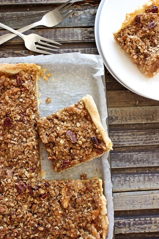 Apple Slab Pie with Crumble Topping | Food | Pinterest
