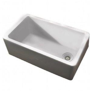 36 Inch Farmhouse Sink White : Porcher 35040-00.001 36-Inch London Farm Sink, White