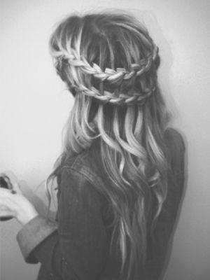 dirty hair double waterfall braid