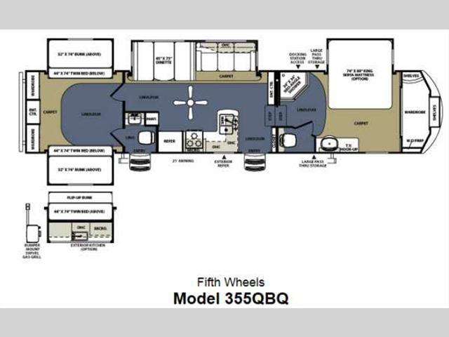2014 Sierra 355QBQ Fifth Wheel