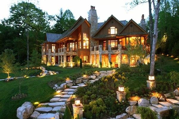 Beautiful Log Home Cabins My Dream Home Pinterest