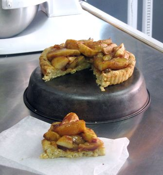 Apple Tart in Cheddar Rosemary Biscuit Crust