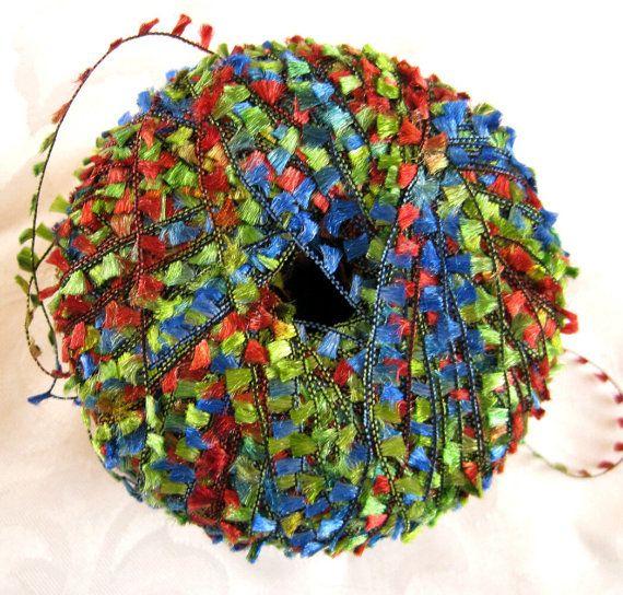 Alektra Powerful Yarns flag yarn red green blue by crochetgal, $7.00 # ...