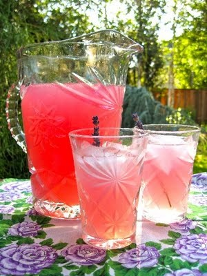Lavender Lemonade ~ beautiful color is from the infused lavender.