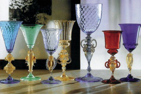 Copas Colección de cristal de Murano