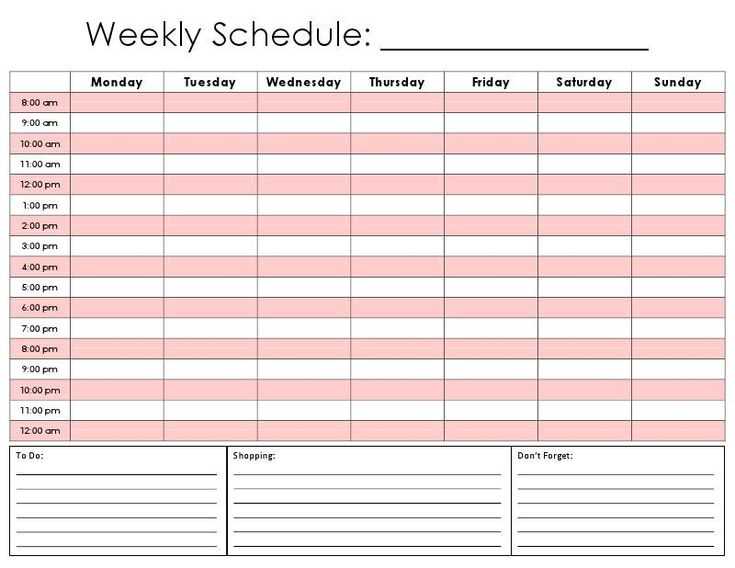 printable blank daily calendar template .