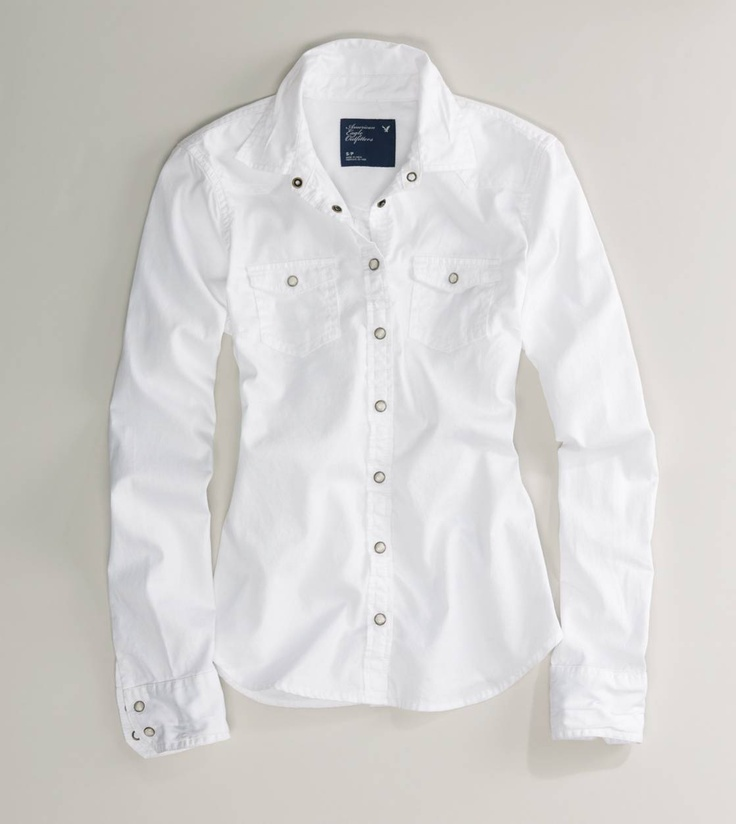 AE White Chambray Western Shirt