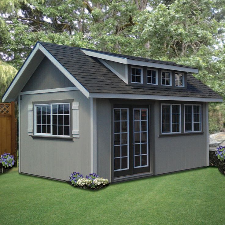 Shed plans with sloped roof for Sloped roof shed