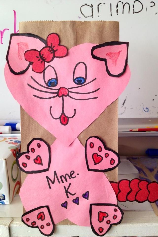 valentine art first grade