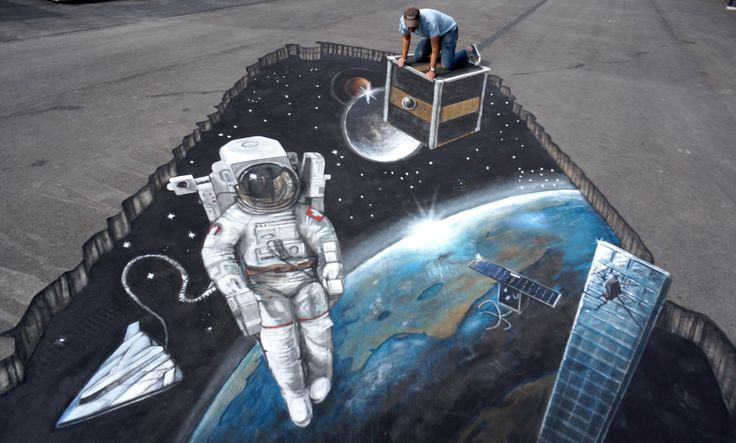 picture 3D Street Art: 14 Eye-Popping Optical Illusions Created In Chalk
