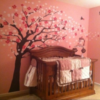 Baby girl nursery daniella bedding pink brown and for Brown and pink bedroom ideas for a girl