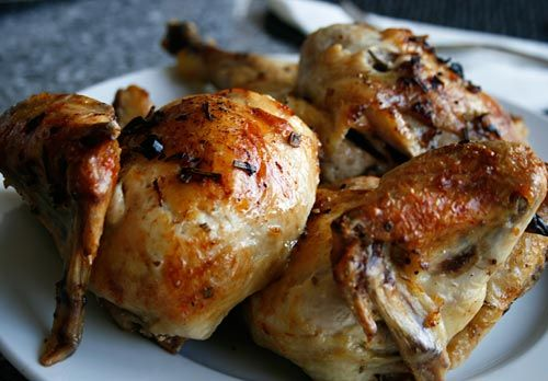 Crisp-Skinned Chicken With Rosemary Potatoes Recipes — Dishmaps