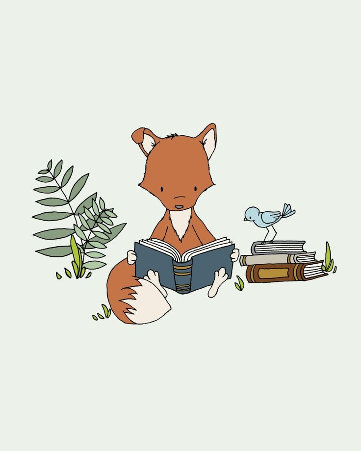 """What does the Fox Read?"" Absolutely adore this print from @carrietomaschko's Sweet Melody Designs for a little one's room!"