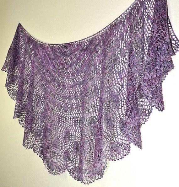 Prayer Shawl Knit Patterns : Wings of a Prayer: Knit Shawl Pattern