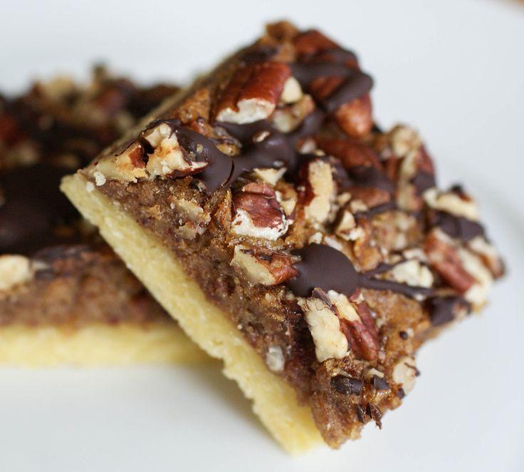 Chocolate Pecan Pie Bars - almond flour, egg, coconut oil, arrowroot ...