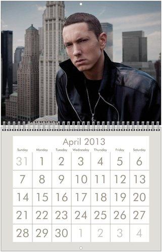 Eminem  25Eminem 2013 Calendar