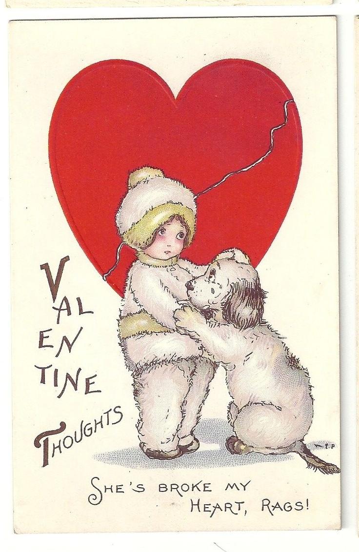 Valentine card illustration by Margaret Evans Price