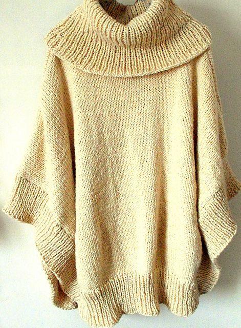 Knitting Pattern For Poncho With Cowl Neck : Ravelry: lancek1s Poncho